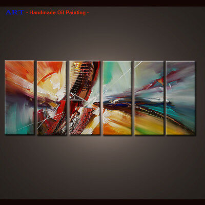 Large Framed Wall Art MODERN ABSTRACT OIL PAINTING Canvas Contemporary Decor D54
