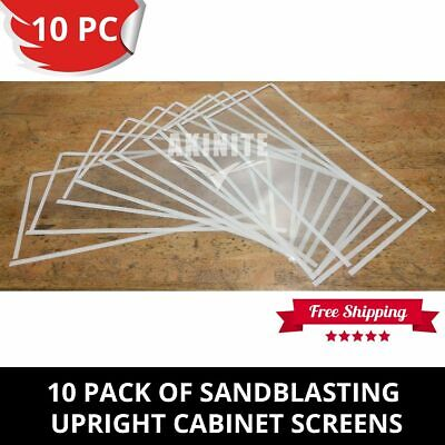 10 Pack of Sandblasting Cabinet Protective Screens For Upright Heavy Duty Model
