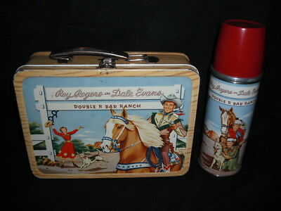 1953 Roy Rogers Lunch Box & Thermos * Vintage * Very Nice Western