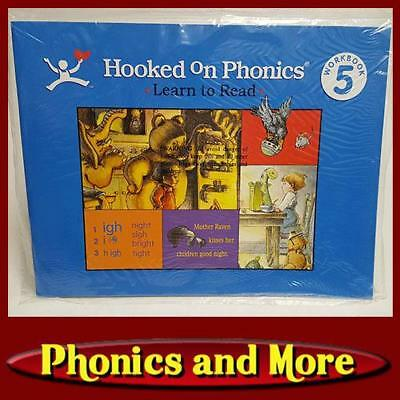 HOOKED ON PHONICS Level 5 1998-NOW Blue Workbook *No writing in workbook*