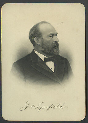 C. 1900 Presidential Cabinet Style Engraving James Garfield