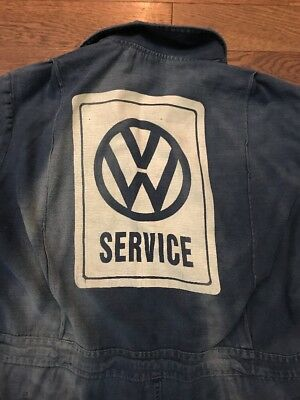 Vintage Volkswagon/ VW Service Work Coveralls Distressed/ Patched Medium/ Large