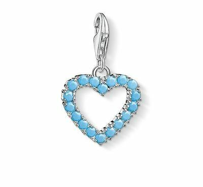 b4642f60abe6 Thomas Sabo Charm Club CC1572 Sterling Silver Turquoise Open Heart Charm  RRP 99