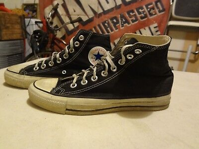 3357e34b23ae vintage black high top Converse Chuck Taylor tennis shoes Made in USA sz 7  1