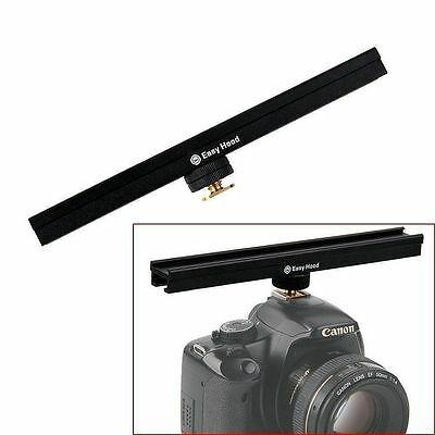 20cm Hot Shoe Cold Shoe Straight Extension Rail Brackets Microphone LED For DSLR