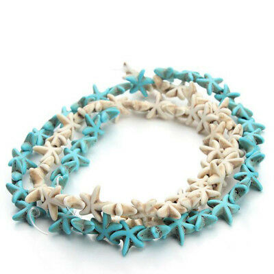 38pcs/pack 1.3cm*1.3cm Starfish Loose Spacer Blue White Turquoise Beads DIY