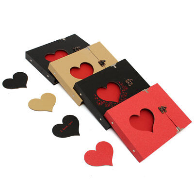 DIY Hollowed Heart Love Wedding Photo Pictures Album Memory Sticker Scrapbook