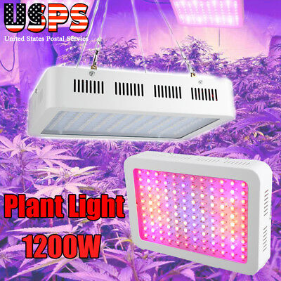 1200W LED Grow Light Panel Lamp for Hydroponic Plant Growing Full Spectrum Tool