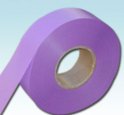 2 Roll Violet  Receptive Flagging Barrier Tape 30mm 50M Tape Ribbon non adhesive