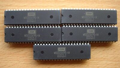 5 x Western Design Center W65C02S6TPG-14 (CMD / Rockwell) Microprocessor MPU