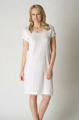 02e533569f SHORT SLEEVED PURE Cotton Jersey Nightie UK 10 - New with tags ...