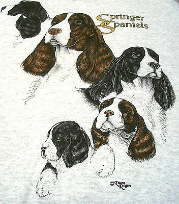 "Springer Spaniel T-shirt  "" Ash "" 2XL ( 50 - 52 )"