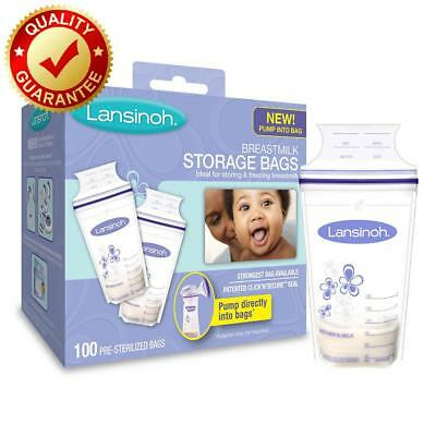Lansinoh Breastmilk Storage Bags 100 Count Bpa Free And Bps Free New Free Shippi