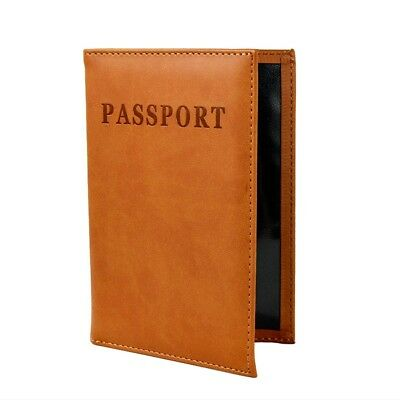 Leather - Passport Case / Cover Wallet Holder Protector - Waterproof