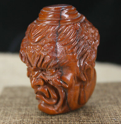China Red wood Yellow pear wood handmade Two-sided  Buddha Necklace Sculpture