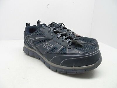 e8d950dd349 SKECHERS MEN'S SYNERGY Fosston Safety Toe Work Shoes Style 77122 ...