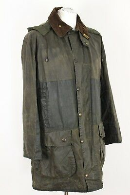 "BARBOUR Mens BORDER Waxed HOODED JACKET / COAT - 40"" Chest"
