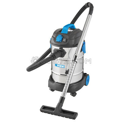 Industrial Wet Dry Vacuum Cleaner 230V 30L With Accessories Fervi A040/30A