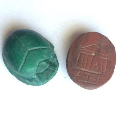 Greek Egyptian ancient gem intaglio scarab antike