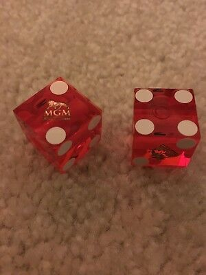 NEW Lot of (2) MGM National Harbor Hotel & Casino Red Playing Dice 6-Sided Craps