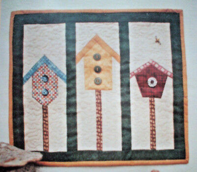 Home Tweet Home birdhouses quilt pattern paper foundation pieced