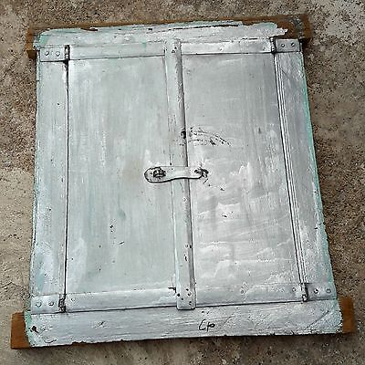 1900's ANTIQUE RARE HAND CRAFTED HEAVY WOODEN ARCHITECTURAL WINDOW