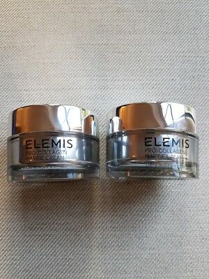 ELEMIS PRO Collagen Marine Cream 2 x 30ml Pots Totally Fresh Stock £104 Value
