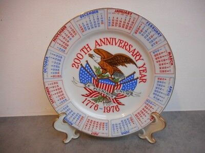 ASSIETTE DU 200 th ANNIVERSARY YEAR 1776-1976 ETATS UNIS DE 1975