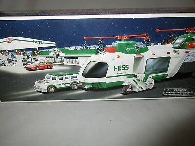 Hess Helicopter with Motorcycle and cruiser Lights sounds Searchlight NRFB 2001
