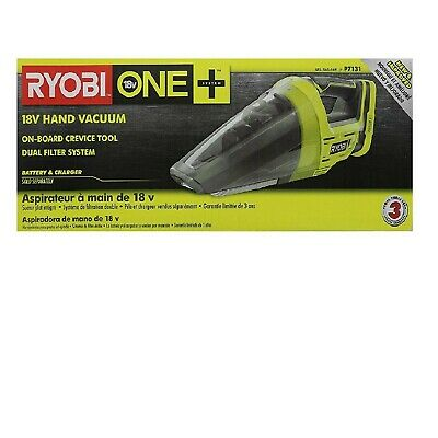 Ryobi P7131 ONE+ 18-Volt Lithium-Ion Cordless Hand Vacuum,No Battery, Charger