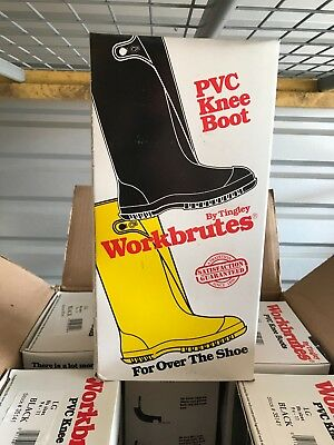 Tingley PVC Knee Boot Workbrutes for over the shoe, Large sizes 9-11, w/button