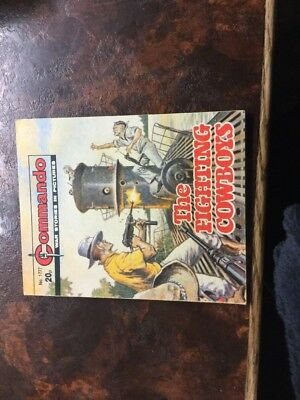 1. very old Commando war comic. 1777 The Fighting Cowboys