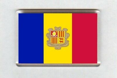 Andorra Flag Fridge Magnet