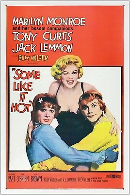 Some Like It Hot Monroe Vintage Movie Large Poster Art Print A1 A2 A3 A4 Maxi