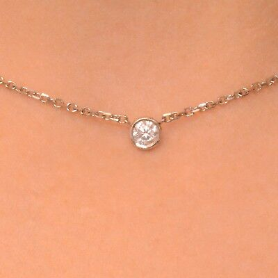 Custom Made Diamond By The Yard Necklace Any Length $110/0.20ct.Station $22/inch