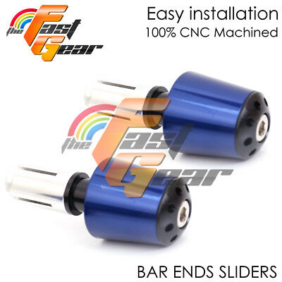 Blue CNC Sole-A Bar Ends Sliders Set For Yamaha MT-07 FZ-07 14-18 15