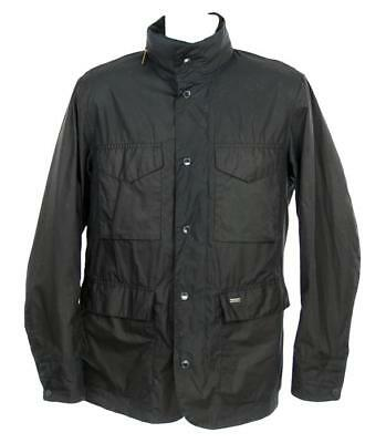 NEW J Crew Barbour 'Sapper' Tailored Fit Weatherproof Waxed Jacket Medium Black