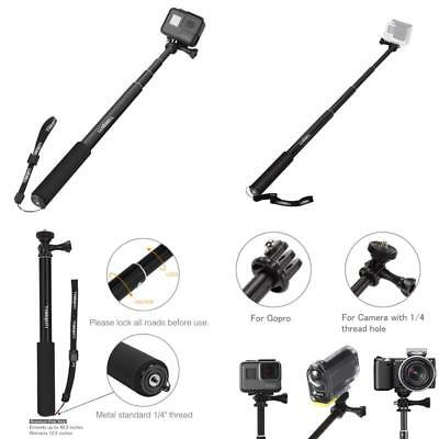 For Gopro Hero 5 Sessions Selfie Stick Adjustable Telescoping Monopod Pole Blue