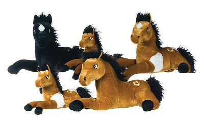 """Large 13"""" Horse Plush Soft Toy Cuddly in 3 assorted Colours Luxury soft toy"""