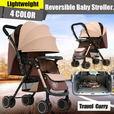 Reversible Lightweight Compact Baby Stroller Prams Pushchair Travel Carry On