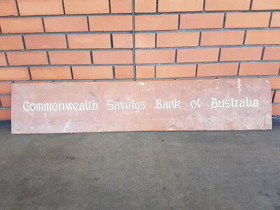 Early Vintage Commonwealth Savings Bank of Australia Solid Copper Plaque