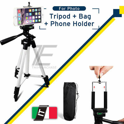 Universale Cavalletto Mini Treppiede Supporto per Fotocamera Cellulare Iphone IT