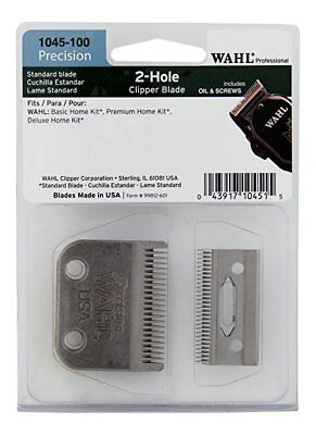 Professional Balding Blade Two Hole 5 Star Clipper Replacement Set Silver Color