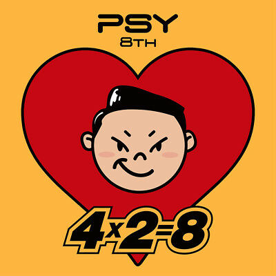 PSY [4X2=8] 8th Album CD+48p Booklet+Sticker K-POP SEALED