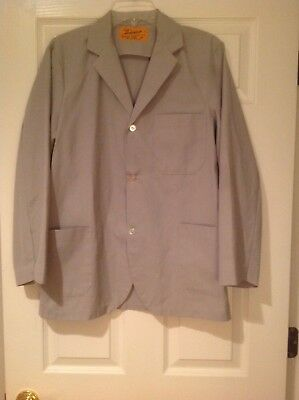 Women's Uniform Gray Lab Coat Styled by American - Size 36