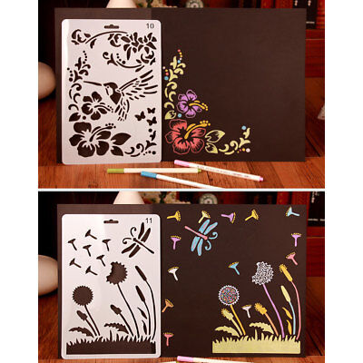 Templates Stencils Scrapbooking Make Drawing Sheets PP Multi Style