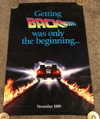 Original 1989 Back to the Future 2 Teaser Movie Poster, Rolled, DS, 27x40