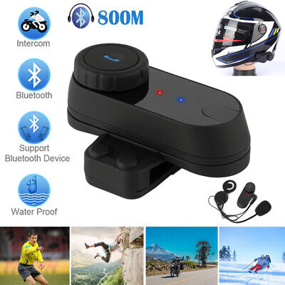 800M BT Interphone Motorcycle Motorbike Bluetooth  Helmet Intercom FM headset