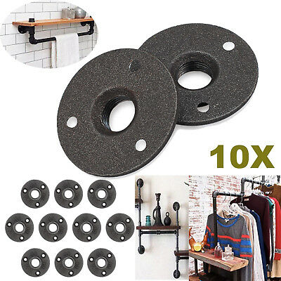 """10x 3/4"""" Malleable Iron Pipe Flange Wall Floor Fittings Industrial Cast Iron BSP"""