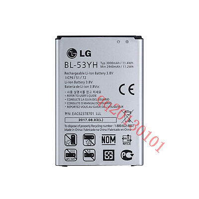 100% Original Genuine BL-53YH Battery 3000mAh For LG G3 D850 D855 VS985 F400